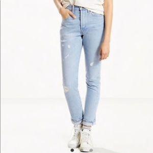 NWT Levi's 501 Skinny Selvedge Mom Jeans Sz 26x28